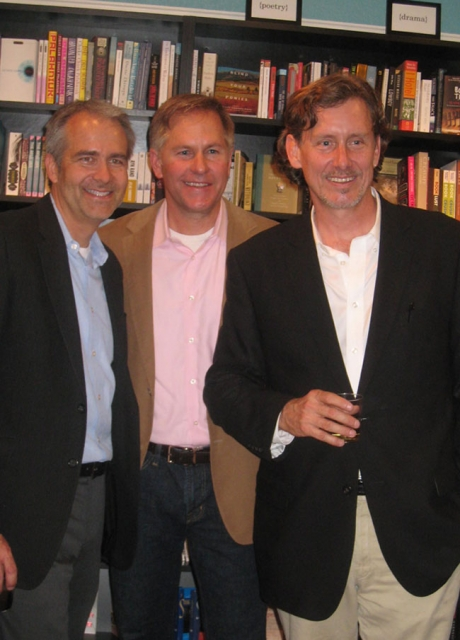 Book Signing at {Pages}: From left to right: KAA Partners Michael Eserts, Grant Kirkpatrick, and Erik Evens.